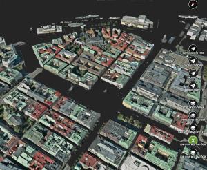 Cityplannerscenario där Göteborg ligger under vatten.