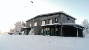 Kiruna. Sveriges nordligaste lågenergi Passivhus, byggt av NCC. Fotograf: Joanna Redman/NCC