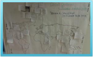 CEMUS studenter har identifierat några utmaningar i världen... Foto: AnnVixen