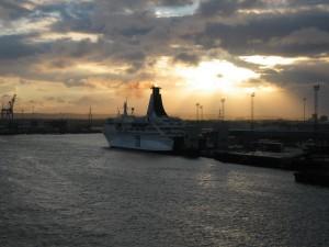 Newcastles hamn, på floden Tyne. Foto: AnnVixen