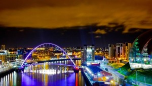 Down-town Newcastle and Tyne. Foto: David Thomson