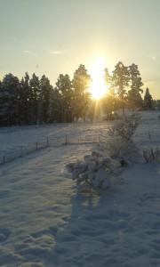 Soluppgång i Skattungbyn. Foto: AnnVixen