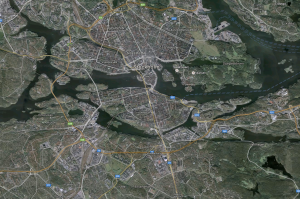 Stockholm from Google Earth view.