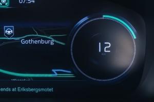 Instrumentpanelen i en självkörande Volvo. Foto: Volvo Cars