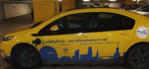 Laddhybrid a la Stockholms stad. Foto: AnnVixen